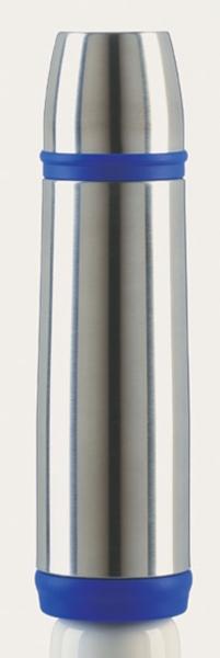 Emsa CAPTAIN Isolierflasche Trinkflasche Reiseflasche Trinkflasche Reiseflasche 0,5l Edelstahl/blau