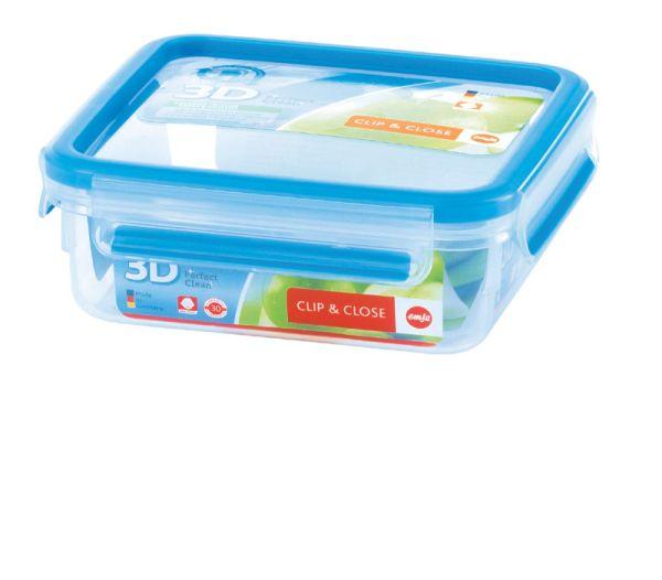 Emsa Clip & Close 3D Perf Clean Frischhaltedose Frischhaltebox  - quad 0,85L