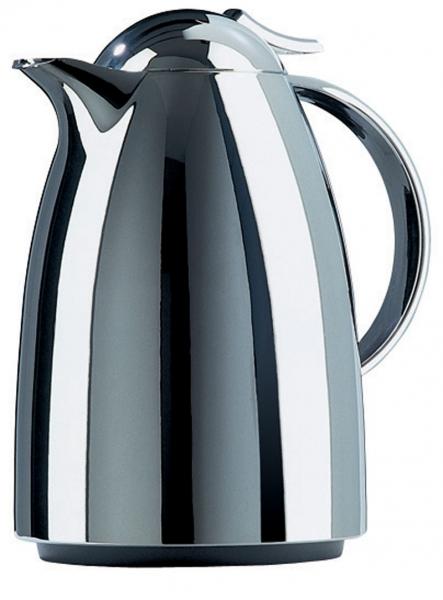 Emsa AUBERGE Isolierkanne Thermoskanne Isokanne Kaffeekanne, Chrom, 1,0 L