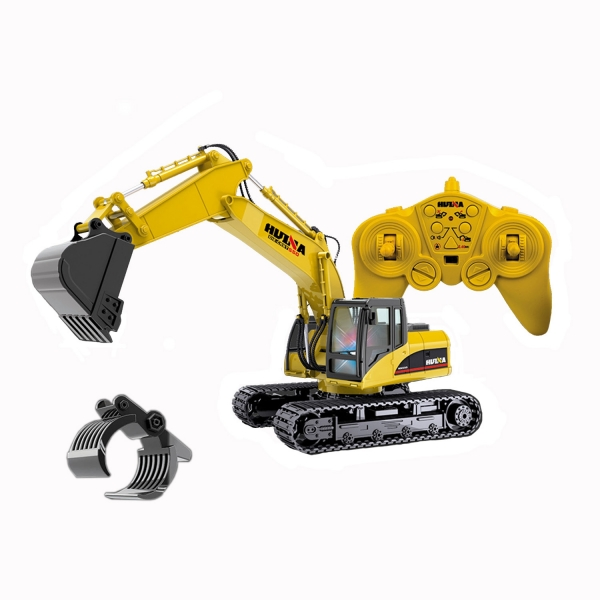 Bagger 1:14  R/C 15 Kanal  Spielzeug Fernbedienungsbagger+ Kratzkopf mit 15 Funktionen