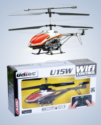 UDI RC U15W Koaxial Hubschrauber WiFi iPhone - iPad gesteuert Helikopter