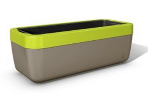Emsa myBOX Blumenkasten 50 cm, braun/grün
