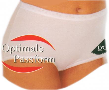 3 er Set Damenslip Taillenslip weiss 95 % gekämmte Baumwolle antibakteriell