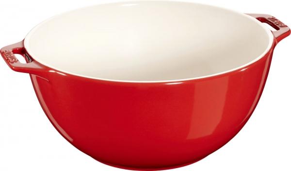 Staub Keramik Salatschüssel Obstschüssel Servierschüssel kirsche 25 cm Ceramic
