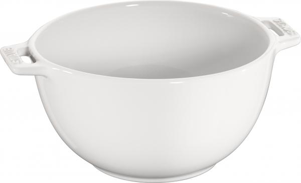 Staub Keramik Salatschüssel Salatschale Obstschale Schüssel rund Reinweiß 18 cm