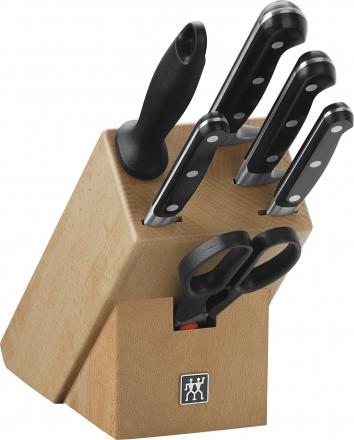 Zwilling 7 tlg. Messerblock Professional S Messer-Block Kochmesser Brotmesser