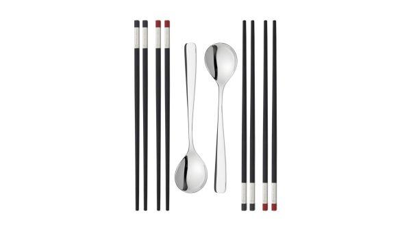 ZWILLING 4 Paar Chopstick-Set  gross  Essstäbchen Sushi Stäbchen Chinesische Stäbchen