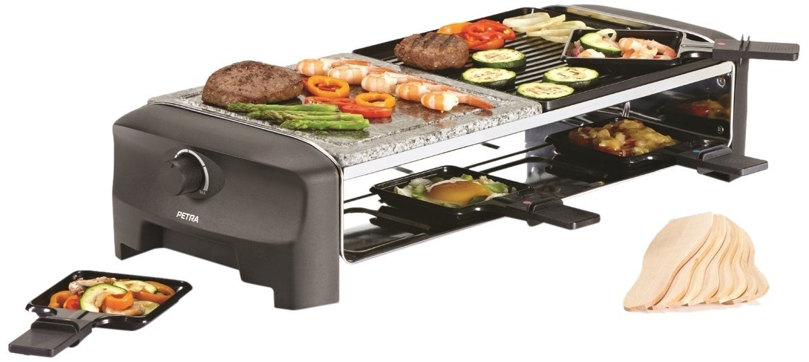 petra electric raclette rc hei er stein f r 8 personen raclettegrill racletteger t grill. Black Bedroom Furniture Sets. Home Design Ideas