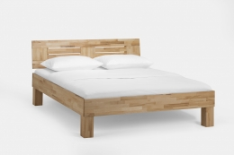 Massivholzbett Buche lackiert 100 x 200 cm Einzelbett Jugendbett