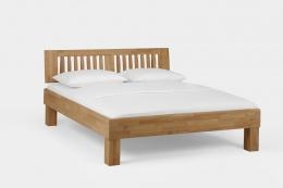Massivholzbett Wildeiche honig geölt 180 x 200 cm Doppelbett Schlafzimmer