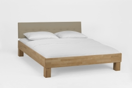 Massivholzbett Buche lackiert 120 x 200 cm Einzelbett Komfortbett Jugendbett