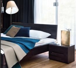 Massivholzbett Buche Wenge lackiert 140 x 200 cm Komfortbett Jugendbett