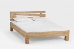Massivholzbett Buche lackiert 140 x 200 cm Komfortbett Jugendbett