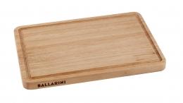 BALLARINI Schneidbrett mit Saftrillen 32 x 22 cm