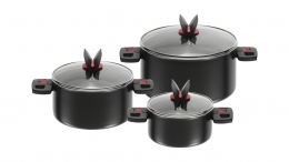 BALLARINI Topfset 3-teilig Click & Cook