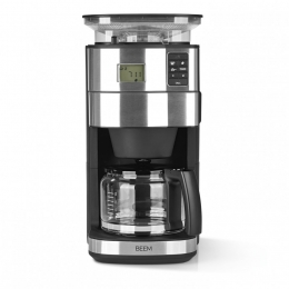 BEEM FRESH-AROMA-PERFECT II Filter-Kaffeemaschine mit Mahlwerk - Glas