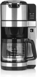 BEEM FRESH-AROMA-PURE Filterkaffeemaschine mit Mahlwerk - Glas Edelstahl 1,25 Glaskanne 24-Stunden-Timer Reinigungsprogramm 1.100 W