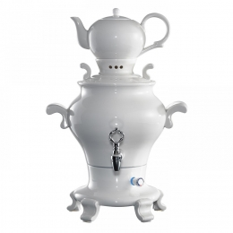 Samowar Odette Blanc - 5l Porzellan Weiß