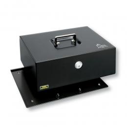 BURG-WÄCHTER Schwarz  Geldkassette Kassette  Royal 300 A mit Anschraubboden 300mm /120mm/240mm