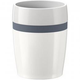 EMSA 4er Set TRAVEL CUP Ceramics, Isolierbecher Reisebecher Kaffebecher Weiß/Anthrazit, 0,2L