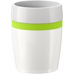 EMSA 4er Set TRAVEL CUP Ceramics, Isolierbecher Reisebecher Kaffebecher Weiß/Limette, 0,2L