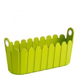 Emsa Garten 5er Set LANDHAUS Jardiniere Blumenkasten Pflanzkasten Blumentopf 39 cm grün