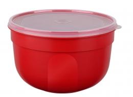 EMSA 4er Set SUPERLINE Colours rot  Frischhalteschale Frischhaltedose Vorratsdose 2,25L