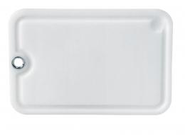 Emsa CLEAN CUT Schneidbrett mit Saftrille Küchenbrett Schneidebrett Weiß 28x19 cm
