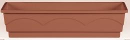 Emsa Blumenkasten LAGO Balkonkasten  Pflanzkasten terra 100 cm