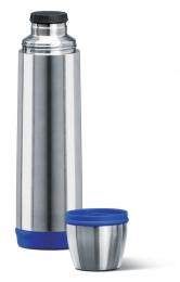 Emsa CAPTAIN Isolierflasche Trinkflasche Reiseflasche Trinkflasche Reiseflasche 0,7l Edelstahl/blau