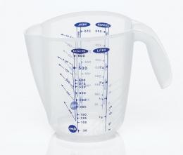 Emsa SUPERLINE Messbecher mit 3 Skalen Maßkanne Messkanne Transparent, 0,5 L