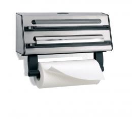 Emsa CONTURA 3-fach Schneidabroller Küchenrollenhalter Folienspender Folienhalter Edelstahl