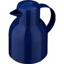 Emsa SAMBA Isolierkanne Thermoskanne Kaffeekanne Quick Press 1l blau