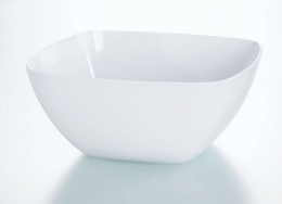 Emsa VIENNA Schale Schüssel Salatschüssel 4,6 L Schüssel Salatschüssel Weiß, 26,5 Ø cm