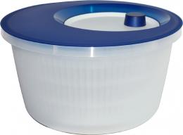 Emsa Salatschleuder, Transluzent Blau/Weiß, 4,0 L