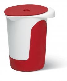 Emsa MIX & BAKE Quirltopf Quirltopf Rührtopf  Rührschüssel Backschüssel Backschüssel 1l w./rot + Deckel