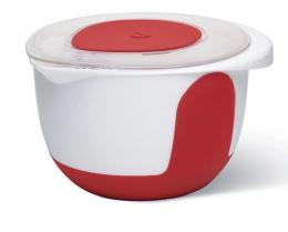 Emsa MIX & BAKE Quirltopf Rührtopf Quirltopf Rührtopf Rührschüssel Backschüssel Backschüssel 3l weiß/rot +Deckel