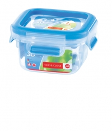 Emsa Clip & Close 3D Perf Clean Frischhaltedose Frischhaltebox  - quad 0,25L