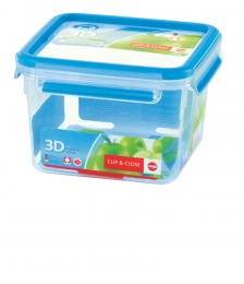 Emsa Clip & Close 3D Perf Clean Frischhaltedose Frischhaltebox  - quad 1,75L