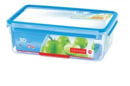 Emsa Clip & Close 3D Perf Clean Frischhaltedose Frischhaltebox  - recht 5,50L
