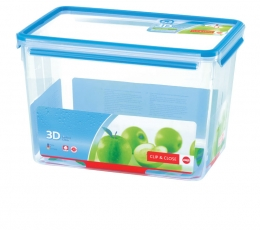 Emsa Clip & Close 3D Perf Clean Frischhaltedose Frischhaltebox  - recht10,80L