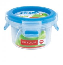 Emsa Clip & Close 3D Perf Clean Frischhaltedose Frischhaltebox  - rund 0,15L