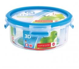 Emsa Clip & Close 3D Perf Clean Frischhaltedose Frischhaltebox  - rund 0,85L