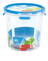 Emsa Clip & Close 3D Perf Clean Frischhaltedose Frischhaltebox  - rund 2,00L
