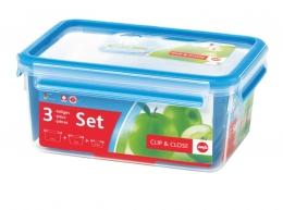 Emsa Clip & Close 3D 3er Set 0,55/1,00/2,3L