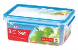 Emsa Clip & Close 3D 3er Set 1,0/2,3L/3,7L