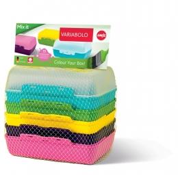 Emsa VARIABOLO Set 6-Halb-Schalen Brotbox Brotdose Vesperbox Vesperdose
