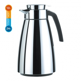 EMSA CONE Isolierkanne Thermoskanne Kaffekanne Quick Tip, Chrom, 1,5 L