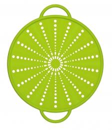 Emsa SMART KITCHEN Silikon Spritzschutz 26 cm, grün 6 in 1 Multitalent für die Küche: Spritzschutz