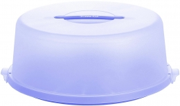 EMSA BASIC Tortenbutler Tortenbehälter Tortenbox Flieder/Transluzent, Ø 33 cm
